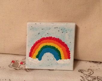 Rainbow Mini Canvas Painting