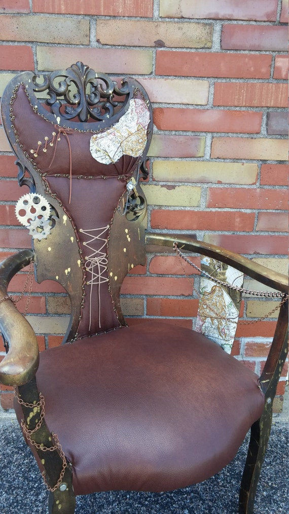 Steampunk Accent Chair