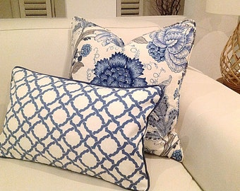 Hamptons Style Cushions, Linen Cushions, Hampton's Pillows, Cover Only.  Linen Pillow. Blue & White Cushions, Scatter Cushion covers.