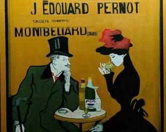 J. Edouard Pernot vintage era absinthe poster