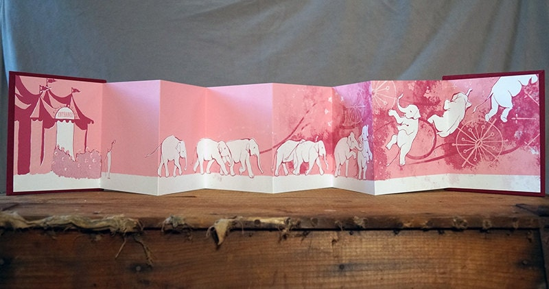 "Silkscreen Hand-bound Book ""Ringling"" White, 1st Edition"