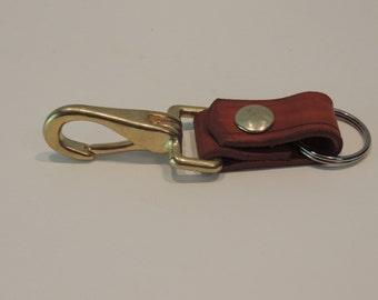 Leather Keychain / Handmade