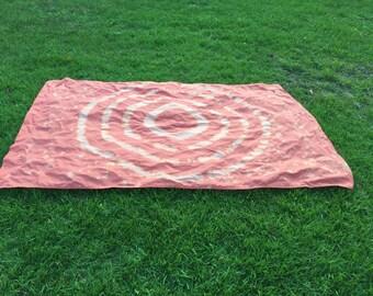 Soft Orange Reverse Tie Dye Tapestry - Supernova Pattern