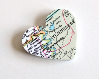 atlas heart die cuts, map heart die cuts, atlas heart confetti, map going-away confetti, atlas heart scrapbook embellishments, - 30 pieces