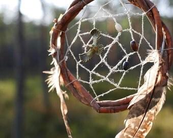 Sacred Native dream catcher Forest bird totem Spiritual Nature dreamcatcher