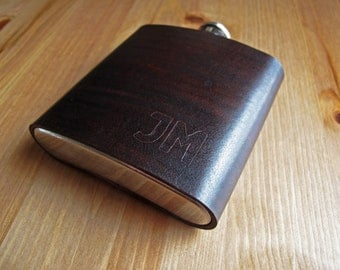 Personalised Leather Flask