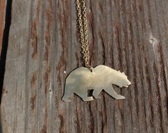 Golden Bear Necklace