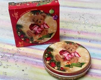 Miniature 1:6 Danish Cookies Tin Box with Paper Box-D