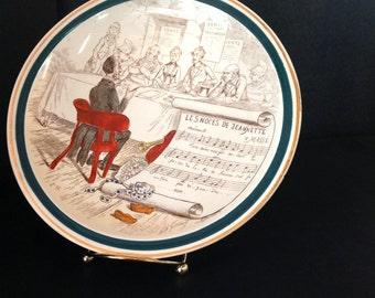 Terre De Fer Hand Painted Porcelain Opera Plate Les Noces De Jeannette No 10 The wedding of Jeannette