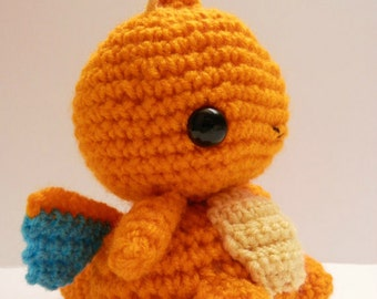 Crochet Dragonite Inspired Chibi Pokemon