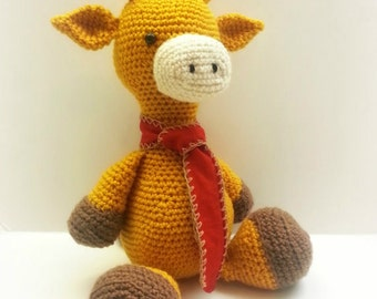 Crochet Mr. Giraffe Plushi