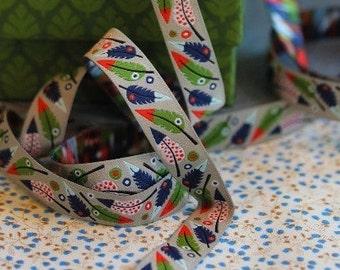 "Ribbon color mix ""Pluma"" nature"