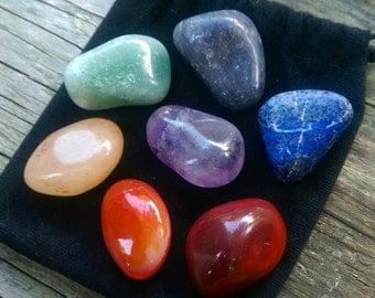 7 Chakra Stone Tumbled Set