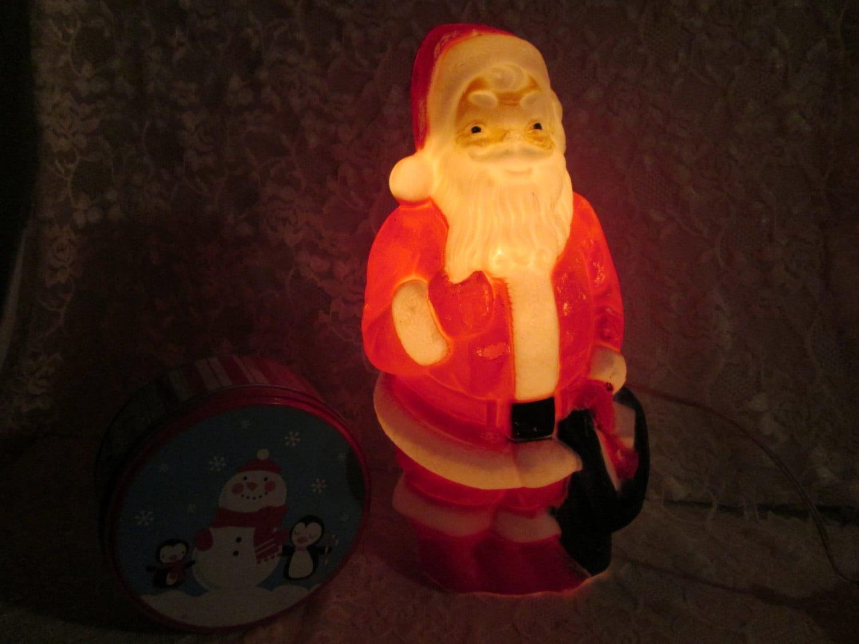 Santa claus christmas light vintage lighted