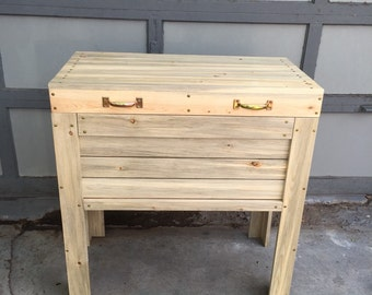 Deck cooler / Ice box / Drink cooler / Wooden cooler