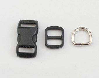 Dog Collar Buckle Set  - 3/8 inch