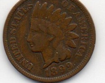 Coin, Collectable, 1899 Indian Head Penney