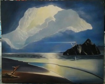 """Seascape painting oil painting on canvas 32""""X40"""""""