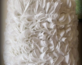 White Ruffled Lamp Shade Lampshade Very beautiful! Ruffles! Rose petals!