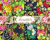 FOLK ART PAPER. Floral Paper, Floral Pattern, Floral Digital Paper, Floral Image, Digital Paper, Zhostovo