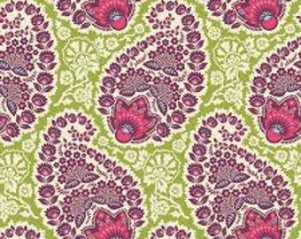 HEIRLOOM by Joel Dewberry - Fabric - Paisley in Amethyst - Sapphire Palette - Quilting - Sewing - Home Decor - Free Spirit Fabrics