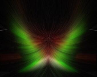 "Aurora Phoenix Print Titled: ""Celestial Phoenix"" Abstract fractal Phoenix photo manipulation, limited edition digital fine art print 8x10"