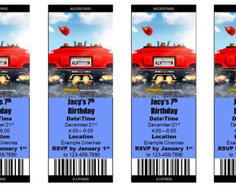 Alvin & the Chipmunks-The Road Chip Movie Ticket Invitation - (Print at Home Personalized Digital File)