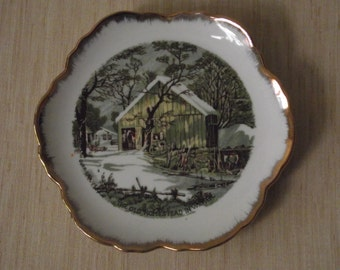 "Currier & Ives ""The Old Homestead in Winter"" Collector Plate"