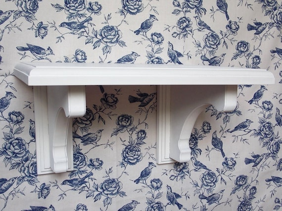 white wood shelf brackets wall shelves by thewoodgraingallery. Black Bedroom Furniture Sets. Home Design Ideas
