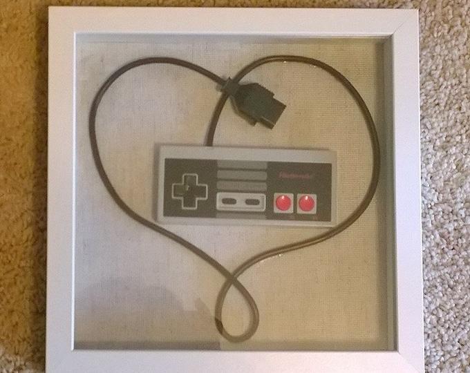 NES Heart, wire wrap, controller art