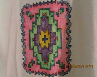 t-shirt-southwest hand colored