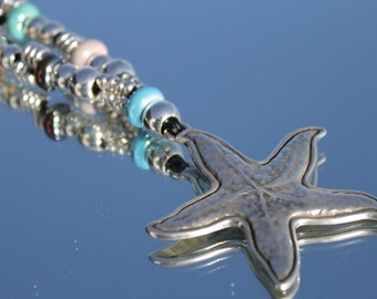 long necklace with starfish