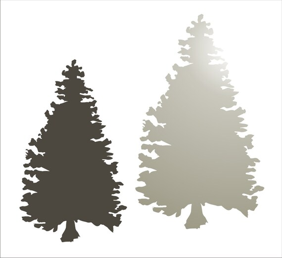 Christmas Tree Stencils: Items Similar To Pine Christmas TREE **STENCIL** Set Of 2