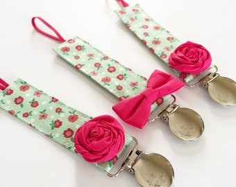 Pacifier Clip - Enchanted Floral