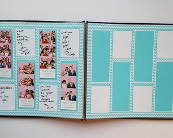 Bright Blue Photo Booth Guest Book