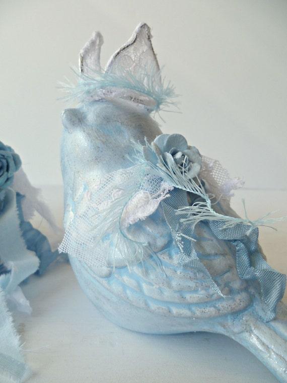 Französische schicke blaue vogel dekor von provencalmarket auf etsy