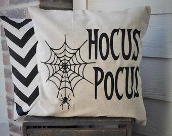 Halloween Pillow Cover, Hocus Pocus Pillow Cover, Halloween Decor, Spider web, Fall pillow