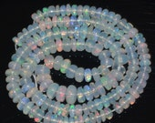 "61.70 Cts 16"" Natural Ethiopian Welo Fire Opal Smooth Rondelle Beads - Untreated - Nº 2395 X"