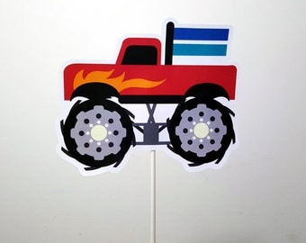 Monster Truck Cake Topper, Monster Truck Centerpiece