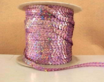 5 yards Light Pink Sequin Trim-Hair Bow Embellishment-Costume Accessory-Pageant-Sewing-Craft-Bling Bling-Shinny-Sequin headband-Sequin Bow