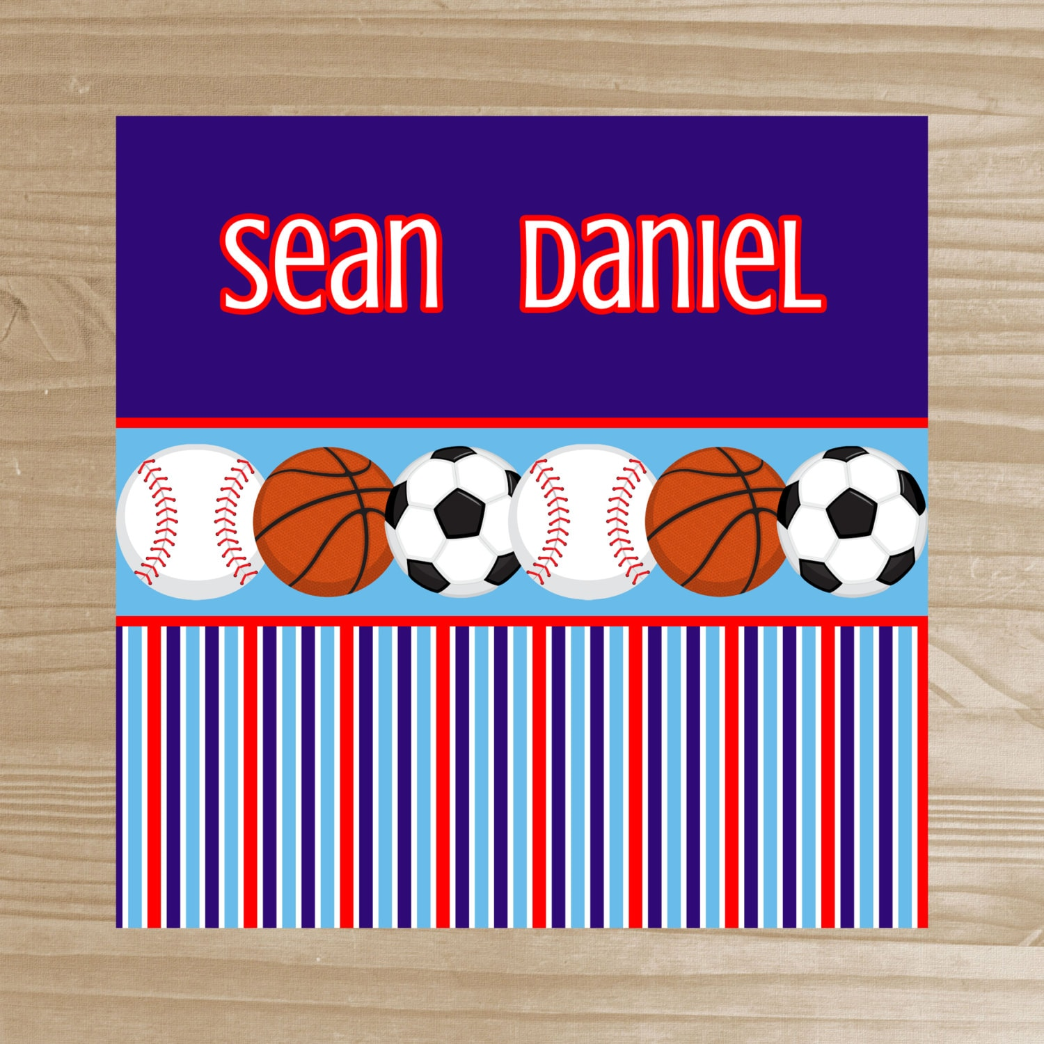 Sports Shower Curtain Boys Personalized Shower By