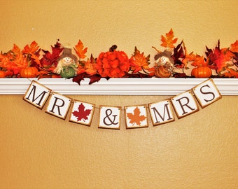 FALL WEDDING DECORATION, Fall Wedding Banner, Fall Wedding Sign, Fall Bridal Shower Decoration, Bride to Be Banner and Sign, Fall Engagement