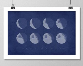 "STAR WARS Inspired Death Star Minimalist Movie Poster Print - 13""x19"" (33x48 cm)"