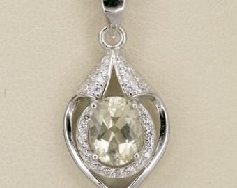 1.2ct Champagne Sunstone Sterling Silver Pendant (S2435P)