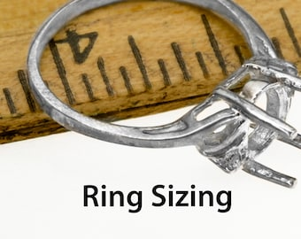 Re-sizing for our rings.