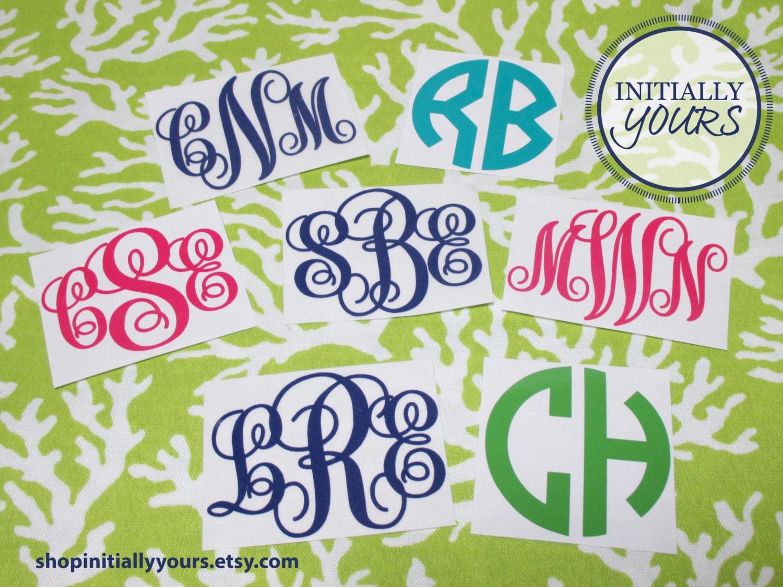 Personalized monogram vinyl decal diy vinyl stickers for Dishwasher safe vinyl lettering