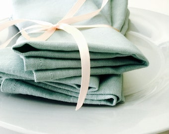 Washed Premium Quality Medium Weight Linen Napkins t VHNY by Vany