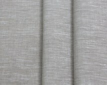 "Extra wide 102"" 100% Linen Flax Fabric Cloth Oatmeal color LightWeight ECO-friendly - Custom Yardage - Perfect for Bedding, Curtains, Craft"