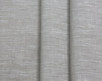 Extra wide 100% Linen Fabric 195 GSM Medium Weight Light Grey color Cloth ECO-friendly -Fabric by the yard -Perfect for Sheet/Cover/Curtains