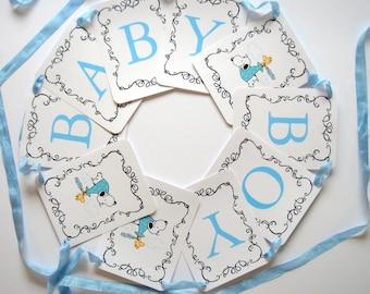 snoopy baby shower banner baby boy blue baby girl pink gender